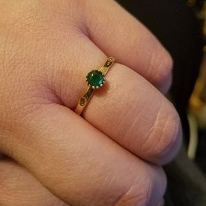 Jewelry - Green Agate Vermeil Ring